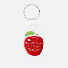 Personalised Teacher Apple Painting Keychains