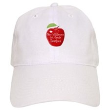 Personalised Teacher Apple Painting Baseball Cap