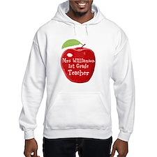 Personalised Teacher Apple Painting Jumper Hoody