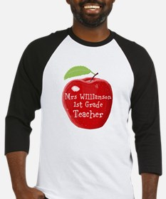 Personalised Teacher Apple Painting Baseball Jerse