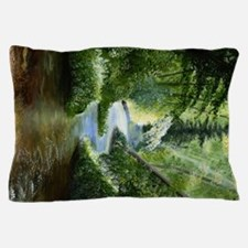 Woodland Stream Oil Painting Pillow Case