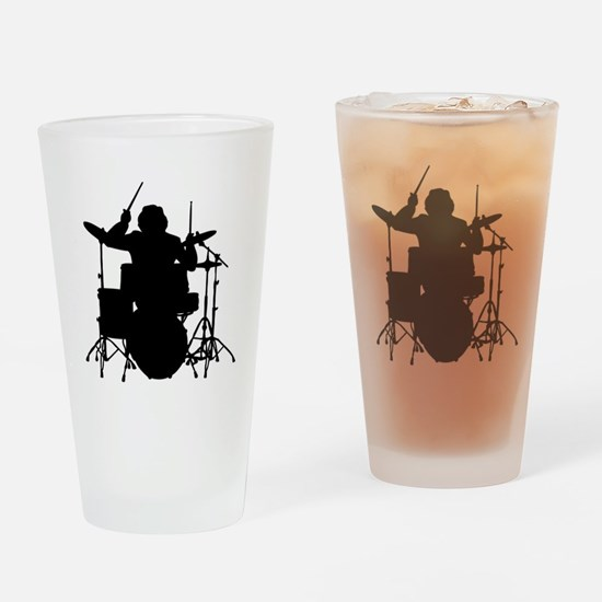 drummer Drinking Glass