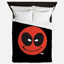Deadpool Smiley Face Queen Duvet