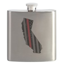 California Firefighter Thin Red Line Flask