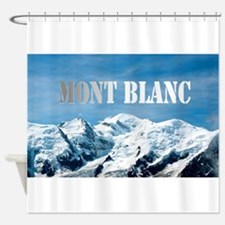 Mont Blanc Pro photo Shower Curtain