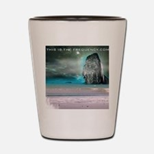 Robot beach Shot Glass