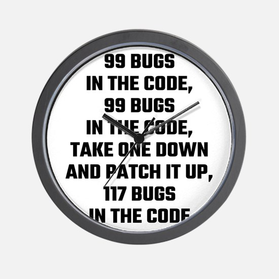 99 Bugs In The Code Wall Clock