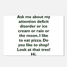 Ask me about my attention Postcards (Package of 8)