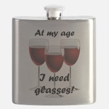 At my age I need glasses! Flask