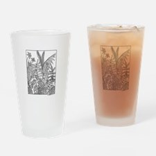 Seed Pod Collage Drinking Glass
