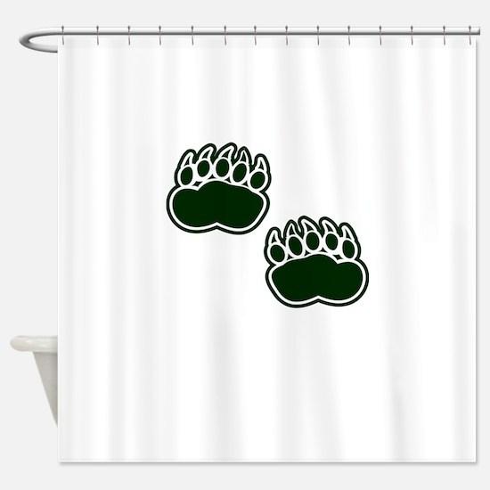 Bear Paws Shower Curtain
