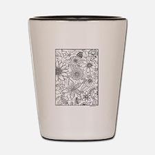 Flower Field Coloring Design Shot Glass
