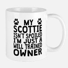 Well Trained Scottie Owner Mugs