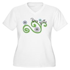 Runs Hills Plus Size T-Shirt