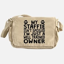 Well Trained Staffie Owner Messenger Bag