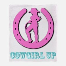 Cowgirl Up Throw Blanket