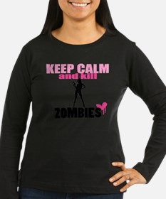 Cute Keep calm and kill zombies T-Shirt