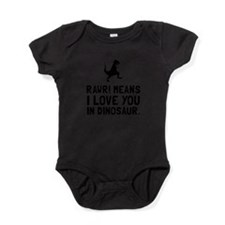 Unique Dinosaur love Baby Bodysuit
