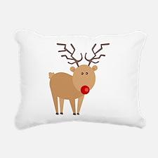 Cute Red Nose Reindeer Christmas Rectangular Canva