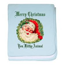merry christmas ya filthy animal baby blanket