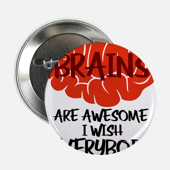 "Brains Are Awesome I Wish E 2.25"" Button (10 pack)"