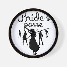 Bride's Posse Wall Clock