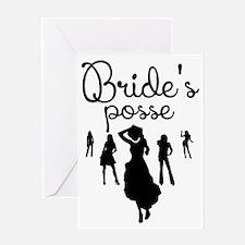 Bride's Posse Greeting Cards