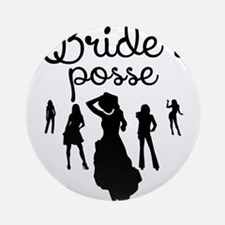 Bride's Posse Round Ornament