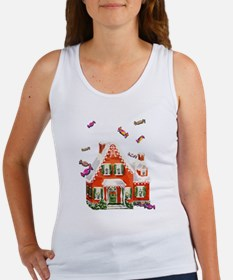 Vintage Retro Gingerbread House Women's Tank Top