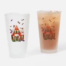 Vintage Retro Gingerbread House Drinking Glass
