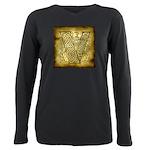 Celtic letter V Plus Size Long Sleeve Tee