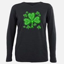 Celtic Shamrocks Plus Size Long Sleeve Tee