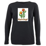 Spring Flowers Plus Size Long Sleeve Tee
