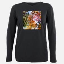Autumn Trees Oil Painting Plus Size Long Sleeve Te