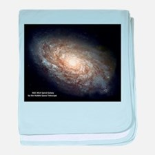 Spiral Galaxy NGC 4414 baby blanket