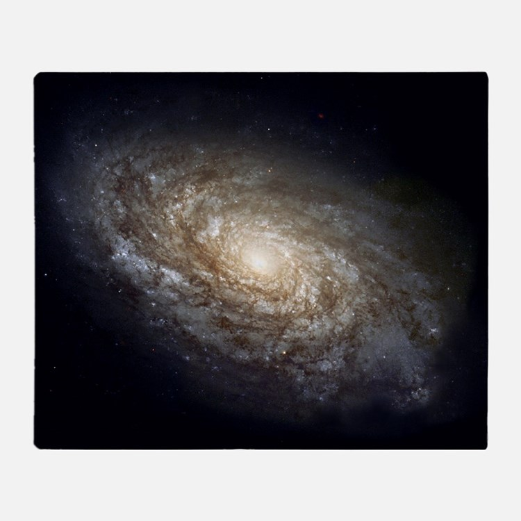 Spiral Galaxy NGC 4414 by the Hubble Throw Blanket
