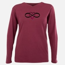 Infinate Love design Plus Size Long Sleeve Tee