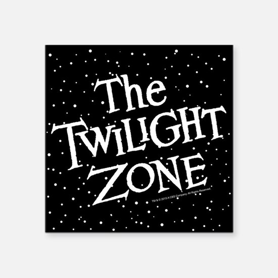 "The Twilight Zone Square Sticker 3"" x 3"""