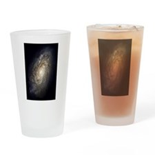 Spiral Galaxy NGC 4414 by the Hubbl Drinking Glass