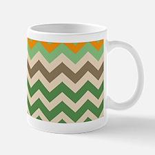 Brown Sandy Green Zigzag Mugs