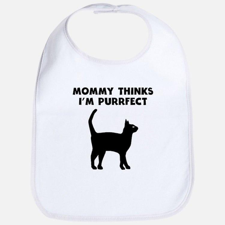 My Mommy Thinks Im Purrfect Bib
