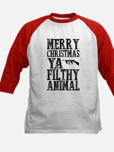 Merry Christmas, Ya Filthy Animal Baseball Jersey