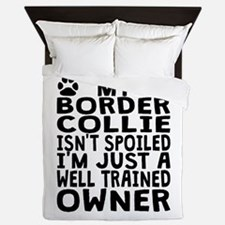 Well Trained Border Collie Owner Queen Duvet