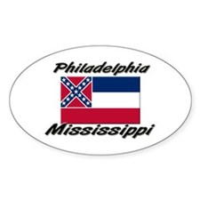 Philadelphia Mississippi Oval Decal