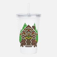 Gingerbread House With Acrylic Double-wall Tumbler