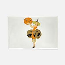 Vintage Halloween Dress with Pumpkin s Magnets