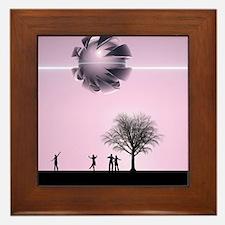 UFO Sighting Framed Tile