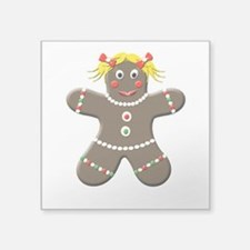 Holiday Gingerbread Cookie Girl Sticker