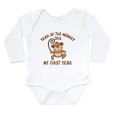 Born Year of The Monke Long Sleeve Infant Bodysuit