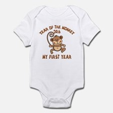 Born Year of The Monkey 2016 Infant Bodysuit